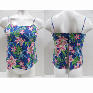 Limited Too top XXL sleeveless floral hibiscus